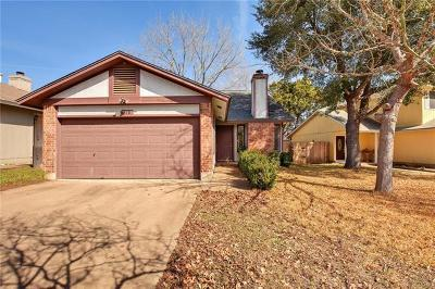 Travis County Single Family Home Pending - Taking Backups: 718 Decker Prairie Dr