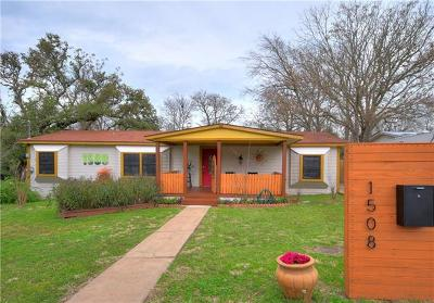 Travis County Single Family Home Pending - Taking Backups: 1508 Damon Rd