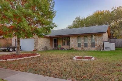 Round Rock Single Family Home For Sale: 1213 E Mesa Park Dr