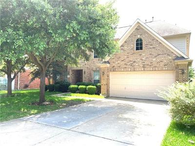 Round Rock Single Family Home For Sale: 3821 Concord Dr