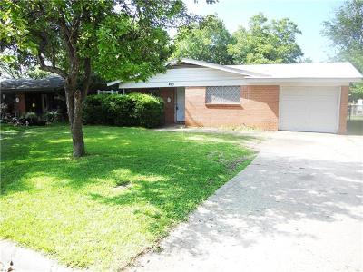 Temple Single Family Home For Sale: 405 E Walker Ave