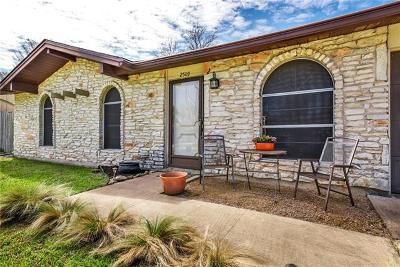 Austin Single Family Home For Sale: 2509 Cockburn Dr