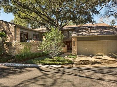 Travis County Condo/Townhouse For Sale: 41 Woodstone Sq