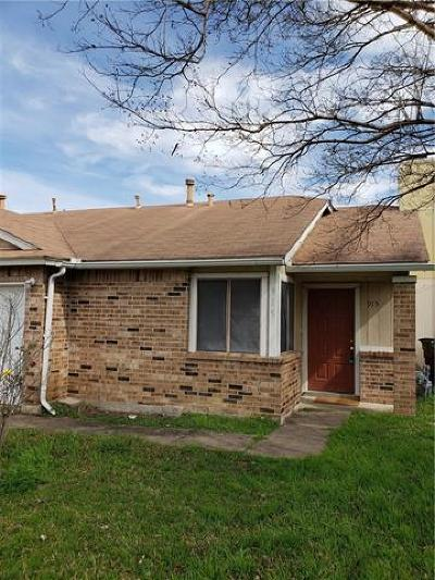 Round Rock Rental Active Contingent: 915 Hyridge St