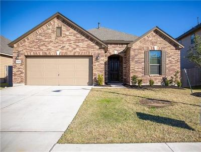 Round Rock Single Family Home For Sale: 6109 Mantalcino Dr