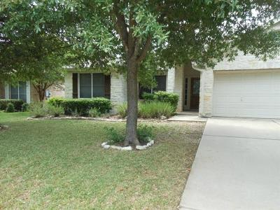 Cedar Park Rental For Rent: 1307 Spotted Fawn