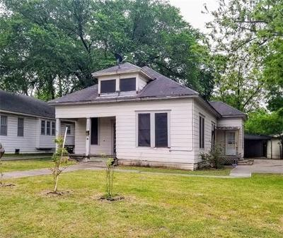Taylor Single Family Home For Sale: 1009 W 7th St