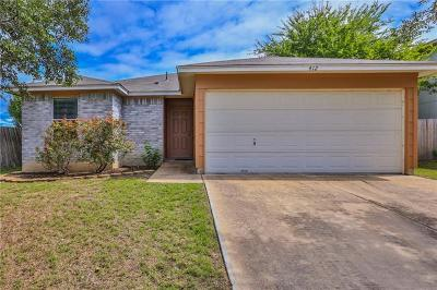Hutto Single Family Home For Sale: 412 Ballentine Ct