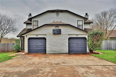 Round Rock Multi Family Home Active Contingent: 501/503 Cypress Ln