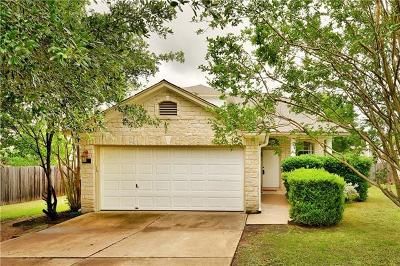 Cedar Park Single Family Home Pending - Taking Backups: 1106 Bohica Way