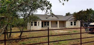 Liberty Hill Single Family Home Pending - Taking Backups: 235 Remuda