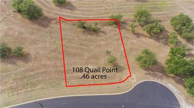 Barton Creek Lakeside, Barton Creek Lakeside Ph 01, Barton Creek Lakeside Ph 03, Barton Creek Lakeside The Ranch, Barton Creek Lakeside, Ranch Section 10, Barton Creek Lakeside/Ranch Sec 3, Barton Creek Lakeside/The Ranch Residential Lots & Land For Sale: 108 Quail Pt