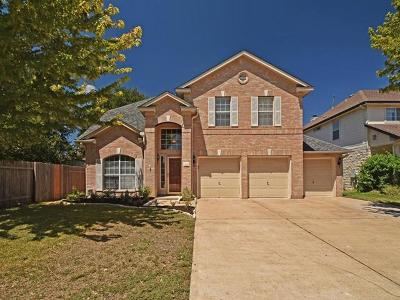 Round Rock Single Family Home For Sale: 1806 Paradise Ridge Dr