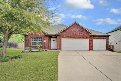 Pflugerville Single Family Home Pending - Taking Backups: 20829 Silverbell Ln