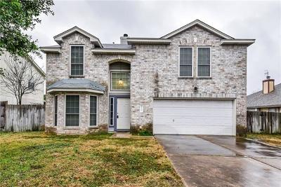 Round Rock Single Family Home For Sale: 2348 Wright Cir