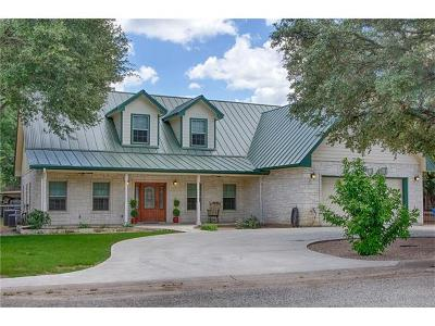 Marble Falls Single Family Home For Sale: 1805 Sunset Dr