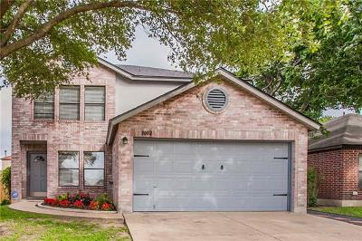 Round Rock Single Family Home For Sale: 3002 John Wilson Ln