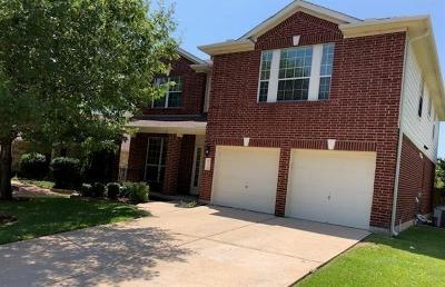 Round Rock Single Family Home For Sale: 8216 Menlo Park Pl