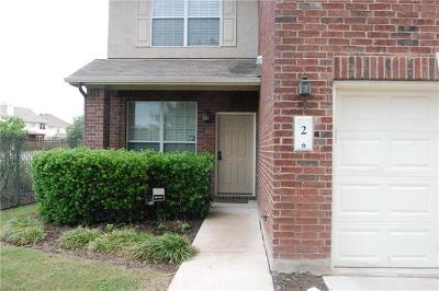 Leander Condo/Townhouse For Sale: 2 Verde Ranch Loop