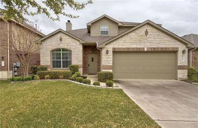 Round Rock Single Family Home For Sale: 1695 Hidden Springs Path