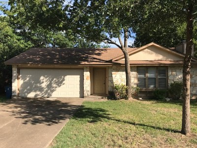 Travis County, Williamson County Single Family Home Pending - Taking Backups: 11215 Slippery Elm Trl