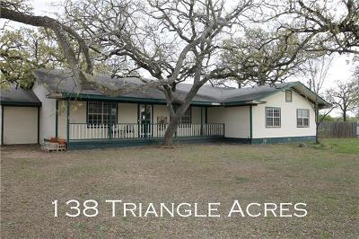 Bastrop County Single Family Home For Sale: 138 Triangle Acres