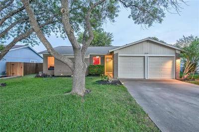 Leander Single Family Home For Sale: 2509 Armstrong Dr