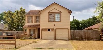 Round Rock Single Family Home For Sale: 2118 Andover Dr