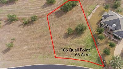 Barton Creek Lakeside, Barton Creek Lakeside Ph 01, Barton Creek Lakeside Ph 03, Barton Creek Lakeside The Ranch, Barton Creek Lakeside, Ranch Section 10, Barton Creek Lakeside/Ranch Sec 3, Barton Creek Lakeside/The Ranch Residential Lots & Land For Sale: 110 Quail Pt