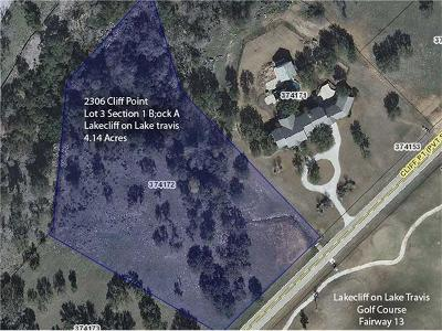 Spicewood Residential Lots & Land For Sale: 2306 Cliff Pt