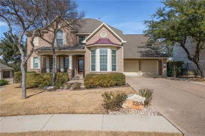 Cedar Park Single Family Home For Sale: 2204 Aldworth Dr