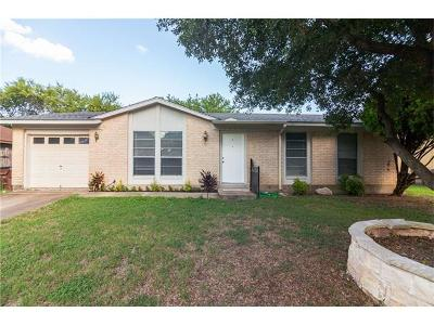 Round Rock Single Family Home For Sale: 1621 Parkside Cir