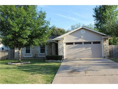 Round Rock Single Family Home For Sale: 805 Forest Glen Cv