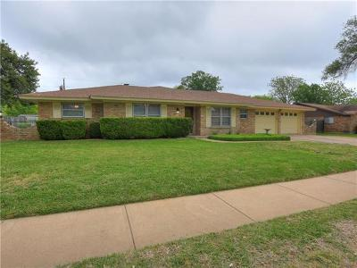 Round Rock Single Family Home For Sale: 1717 Egger Ave