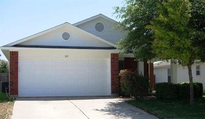 Georgetown Single Family Home Pending - Taking Backups: 317 Precipice Way