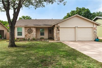 Round Rock Single Family Home For Sale: 519 Yucca Dr