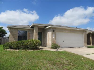 Del Valle Single Family Home Pending - Taking Backups: 12837 Noche Clara Dr