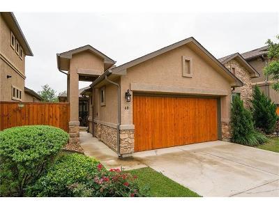 Round Rock Single Family Home For Sale: 4332 Teravista Club Dr #68