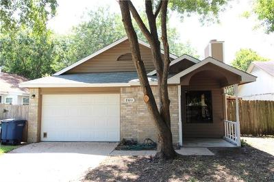 Austin Single Family Home Pending - Taking Backups: 8611 Croydon Loop