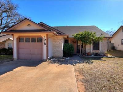 Pflugerville Single Family Home Pending: 1013 Cresswell Dr