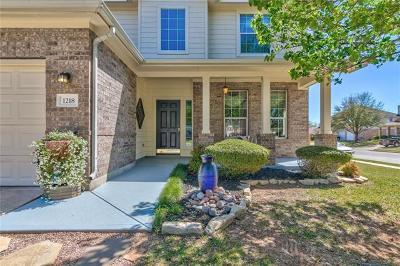 Cedar Park Single Family Home For Sale: 1218 Heritage Park Dr