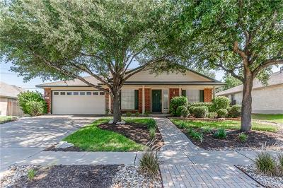 Round Rock Single Family Home For Sale: 1406 Marsh Harbour Dr