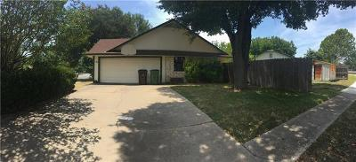 Round Rock Single Family Home For Sale: 1804 Provident Ln