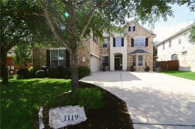 Cedar Park Single Family Home Pending - Taking Backups: 1119 Rowley Dr