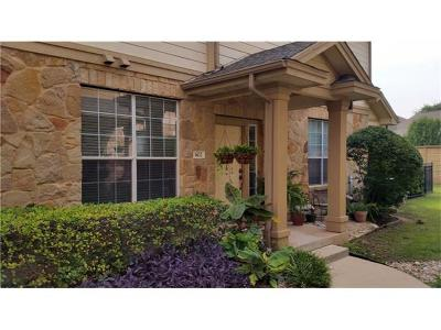 Round Rock Condo/Townhouse For Sale: 16100 S Great Oaks Dr #602