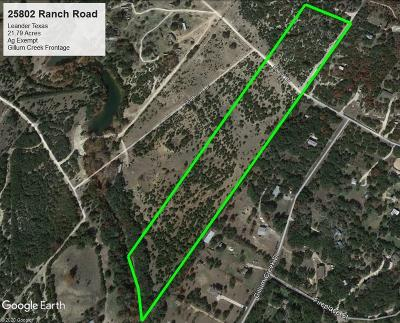 Leander Farm For Sale: 25802 Ranch Rd