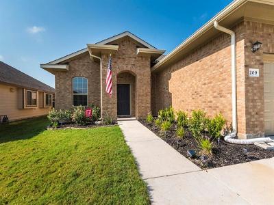 San Marcos Single Family Home For Sale: 209 Field Corn Ln