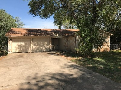 Round Rock Single Family Home For Sale: 1511 Sagebrush Dr