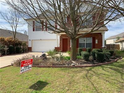 Hutto Rental For Rent: 102 S Creek Bend Dr