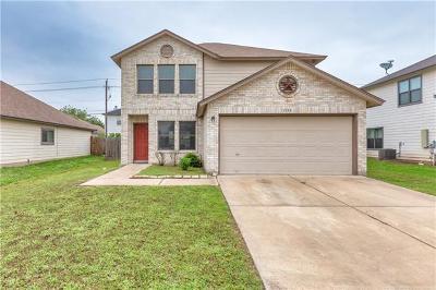 Round Rock Single Family Home For Sale: 1133 Apollo Cir